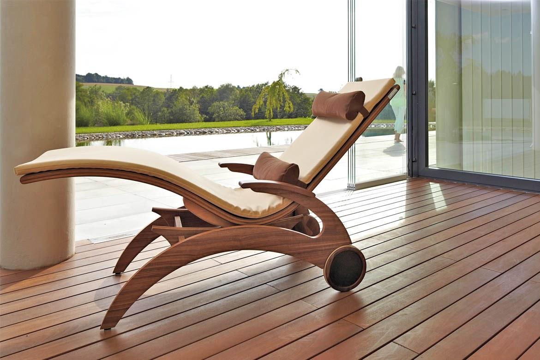Wellnessliege Relaxliege Powernapping Liege Holz Siesta Natur 3