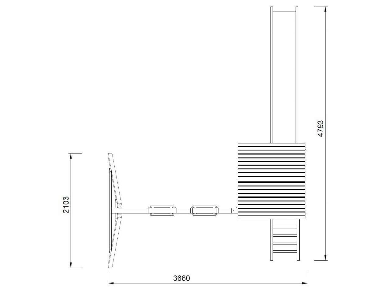 Spieltrum Jesper Set 2 - Turm mit Dach + Schaukel