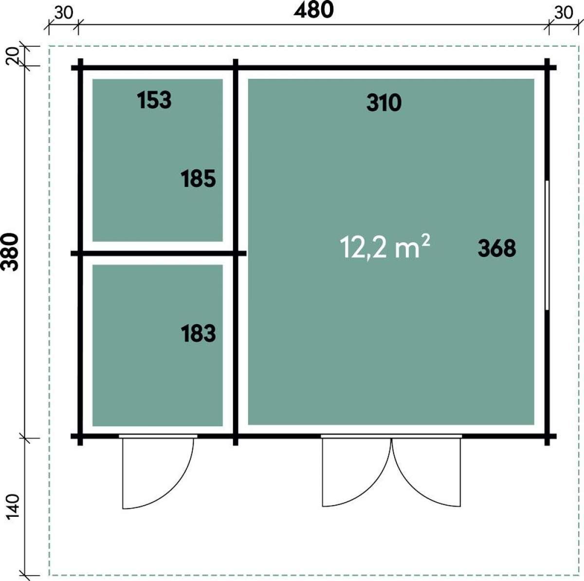 Gartenhaus Corin 4838 Modern