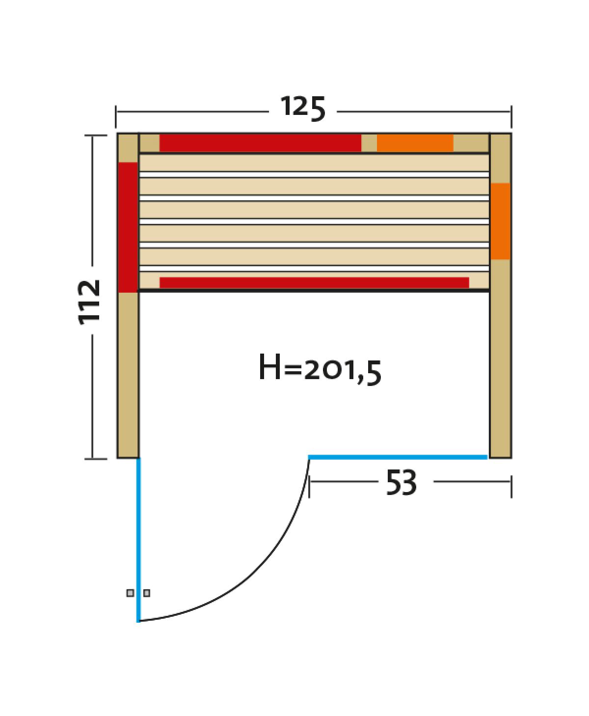 Fusion Glas 125 Espe VG grundriss tuere links