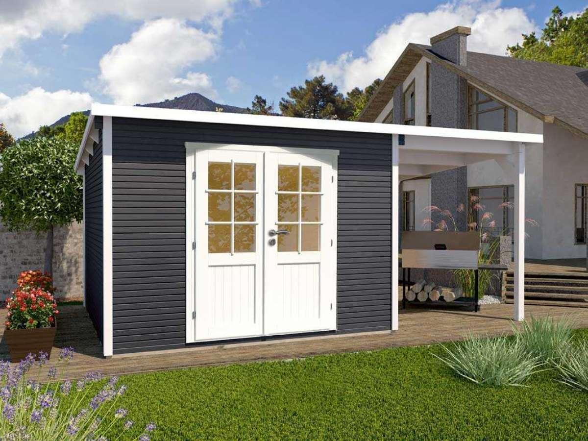 Systemhaus Helena 3824 Anthrazit mit Seitendach 150cm