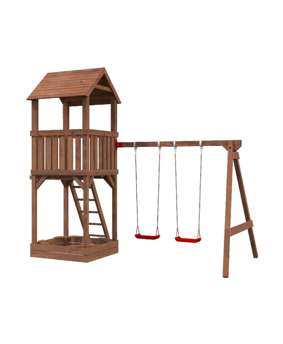 Spieltrum Jesper Set 2 Turm mit Dach Schaukel