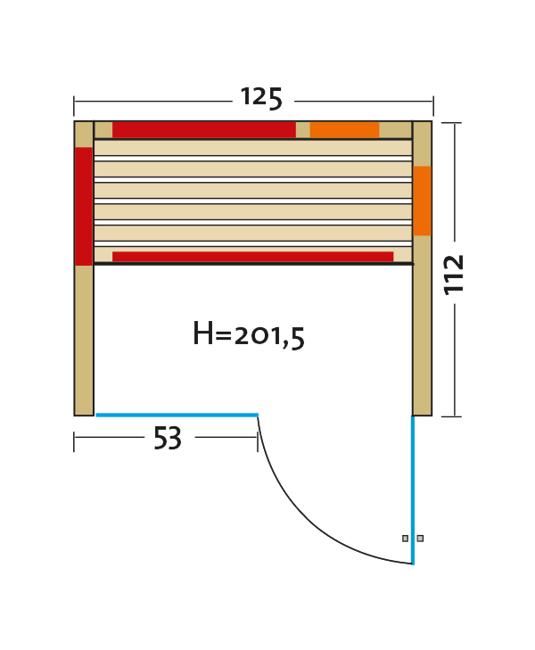 Fusion Glas 125 Espe VG grundriss tuere rechts