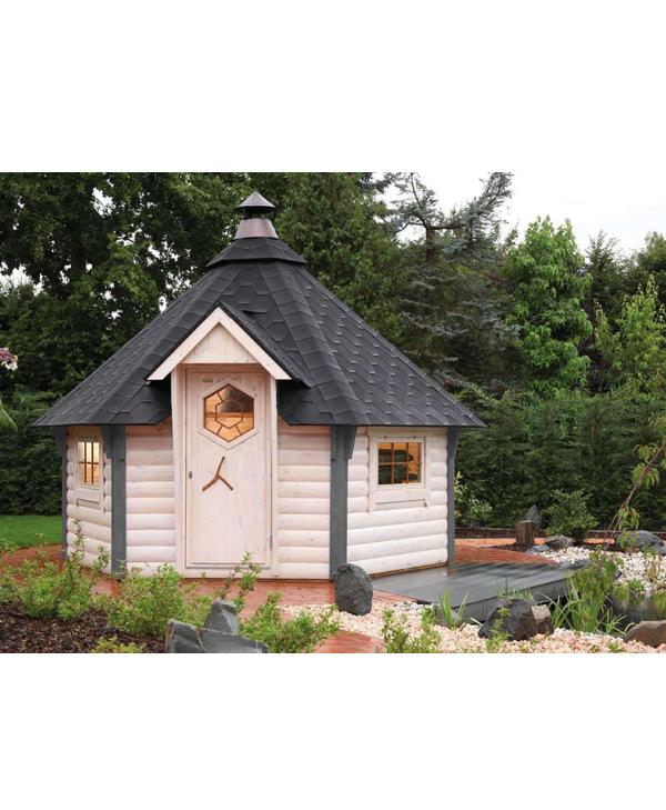 Grillkota Gard 3833 mit schwarzen Dachschindeln