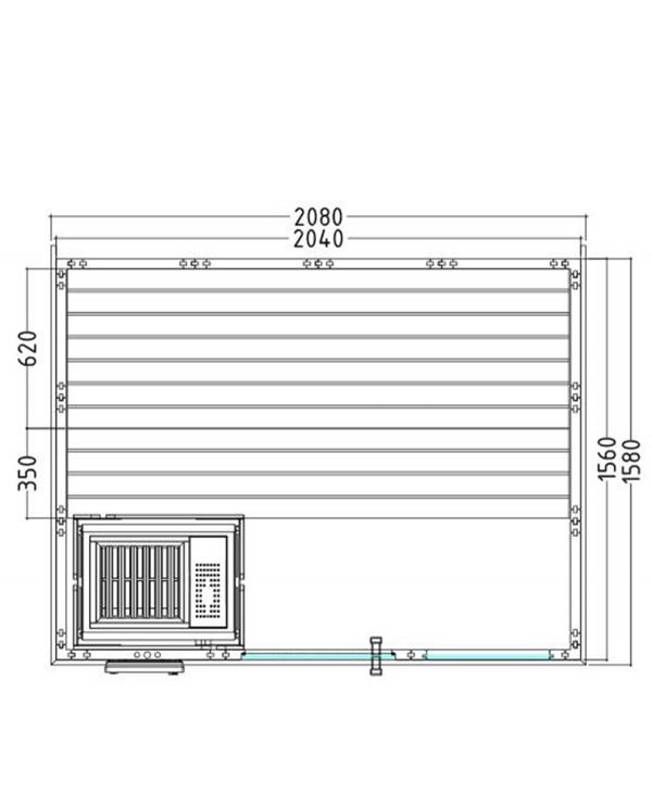Sauna Komfort Small Grundriss